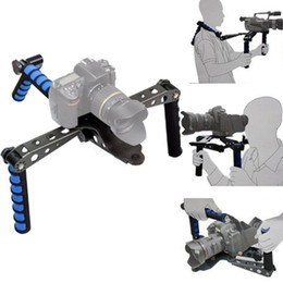 Wholesale Camera Stabilizer Foldable DSLR Rig Movie Kit Film Making System Shoulder Mount Support Rig Stabilizer for Canon Olympus Digital SLR Cameras