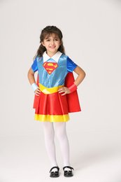 2017 New Halloween Hot Products Children's Superman Cloak Style Dress, Super Hero Theme Cosplay
