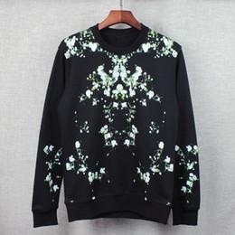 2016 New Fashion brand Mens Hoodies Sweatshirts Floral print Hombre Hip Hop Men Hooded Sweatshirt long sleeve