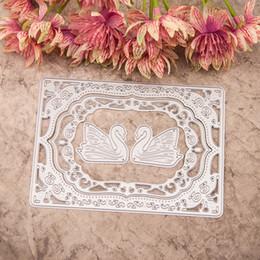 Wholesale DIY Scrapbooking Dies Stencils Creative White Swan Metal Cutting Die for DIY Photo Album Decorative Paper Cards