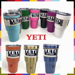 Wholesale 30oz yeti stainless steel tumbler oz oz oz Mugs Clear Lid Rambler Cups Yeti Cup coffee Mugs Large Capacity Steel Mug