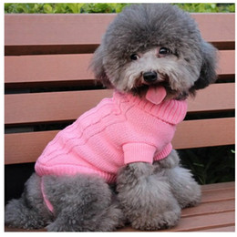 Wholesale Small Pet Dog Puppy Cat Warm Sweater Winter Apparel Costumes Clothes Knit Coat