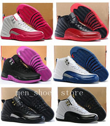 Women Retro 12 GS Hyper Violet Youth Pink Valentines Day 12s Plum Fog Flu Game Basketball Shoes Girls Master Taxi Sneakers High Quality