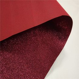 Fashion glitter fabric wallpaper with coating packing glitter leather