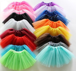 Wholesale 15 colors Top Quality candy color kids tutu skirt dance dresses soft tutu dress ballet skirt layers Net yarn Kids Clothing