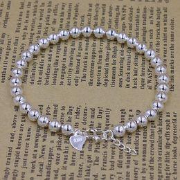 South Korea trend of jewelry wholesale 925 silver bracelets bead bracelets explosion models full glossy silver bracelet