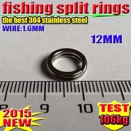 Fishing Lure Accessories 12 MM best 304 stainless steel Split Rings 1000 PCS  lot 2016 new arrial