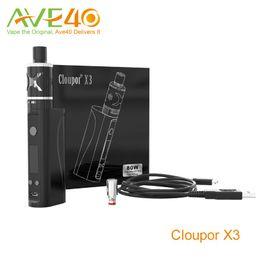 Cloupor gt en Ligne-Cloupor X3 Starter Kits 80w Mod avec SS316L Coil Ni / Ti / SS Contrôle de la température du mode VS GT Mod