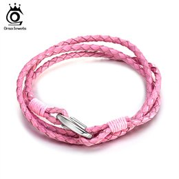 Wholesale 4 Color Choices Dermis Bracelet Vintage 3mm Braid Genuine Leather Bracelet for Women and Men Gift GTB44