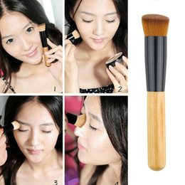 Professional Soft Fiber Angled Flat Top Foundation Powder Brush Cosmetic Tool Drop Shipping Wholesale