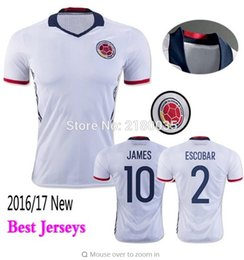 Wholesale Whosales Discount Colombia Soccer Jerseys Chandal Colombia Jersey Football Shirt FALCAO JAMES RODRIGUEZ A Quality