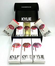 Wholesale 1set Kylie Birthday Edition Lip Kit by kylie jenner Velvetine Liquid Matte Lipstick Lip Pencil Lip Gloss Set High quality DHL Free s