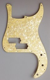 Wholesale For US Standard Precision Bass Pickguard replacement Ply Cream Pearl