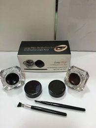 Wholesale Hot Ana Eyeliner Kit Long wear Gel Liner set with eye brushes Genuine Quality Liquid Eyeliner Makeup Free Ship