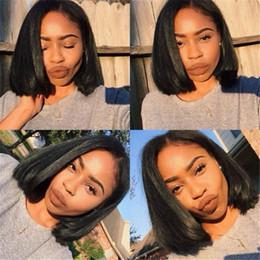 Brazilian Human Hair Bob Wigs For Black Women Short Hair Lace Front Wig Bob Style 130% Density Glueless Bob Full Lace Wigs