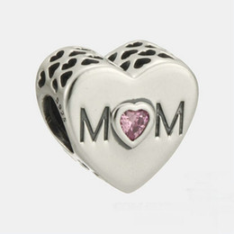 MOM charms sterling silver Fits For Pandora Style Bracelets mothers day Free Shipping 966H9