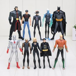 Wholesale 10 cm The DC Superheroes Young Justice Robin Batman Kid Flash Superboy Captain Atom Aqualad PVC Action Figures toys
