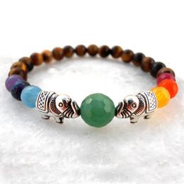 SN0570 2016 Fashion Bracelet Wholesale Natural Stone Chakra Elephant bracelet Seven Yoga bracelet Meditation Multicolor bracelet For Women