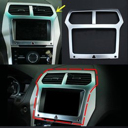 Wholesale 1PCS Silver Center Control Navigation Decorative Frame For Ford Explorer