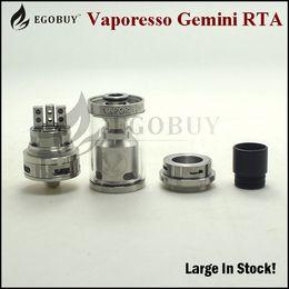 Original Vaporesso Gemini RTA Tank with Velocity style deck Clapton Coil Compatibility Easy to build Gemini RTA Tank in stock now