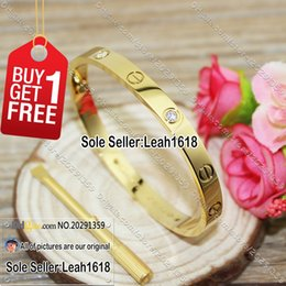 Wholesale Love Screws Bracelets Yellow Gold Stones New Version Screws Style Bangles Fashion Jewelry Brand K Gold Plated With Box Screwdriver