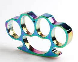 Wholesale 2016 More color new THICK STEEL BRASS KNUCKLE DUSTER TITANIUM HEAVY DUTY BUCKLE BRASS KNUCKLE DUSTER NEW