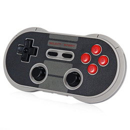 Wholesale DHL New Arrival Bitdo NES30 Pro Wireless Bluetooth Gamepad Game Controller for iOS Android Gamepad PC Mac Linux Retro Design