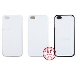 Wholesale 2d soft sublimation cellphone cover iphone7 iphone plus plastic case aluminium board stick