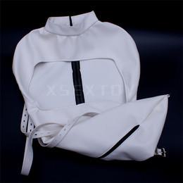 1pcs white color leather gloves tight bundle glove bag