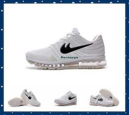 Wholesale 2017 New Max2017 Running Shoes Men Sports Sneakers maxs Maxs white KPU material good quality Original Trainers Shoes us7