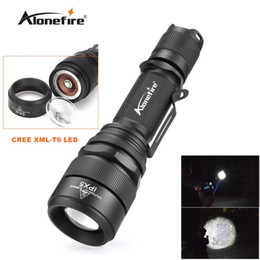 Alonefire G910 CREE XM-L T6 LED 5mode actical Zoomable SB Flashlight Torch light for 1X18650 Rechargeable Battery