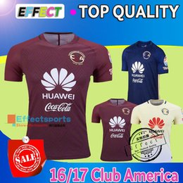 Wholesale 2016 Best Quality Mexico Club America soccer Jerseys home yellow away Red Blue D BENEDETTO SAMBUEZA P AGUILAR football shirt