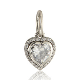 Heart charms pendants S925 sterling silver fits for european pandora style charms bracelets free shipping LW603H6