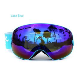 UV400 anti-fog big ski mask glasses skiing men women snow snowboard goggles COPOZZ Brand ski goggles double