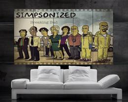 Wholesale Breaking Bad The Simpsons Poster art print picture big parts huge giant Heisenberg Jesse Pinkman Skyler Gus Walter NO2