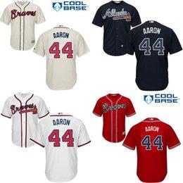 Wholesale Youth Hank Aaron Baseball Jersey Atlanta Braves Jersey kids Baseball Jerseys Shirt Embroidery Logos stitched size S XL