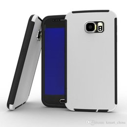 Wholesale Galaxy S6 Cases PC PET TPU fuel injection new protective cover samsung s6 case scratch resistant non slip free DHL shipping