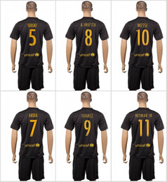 Wholesale A Quality16 Barcelona kit Soccer Jersey Home Away MESSI ARDA A INIESTA SUAREZ SERGIO PIQUE I RAKITIC etc Soccer Jerseys