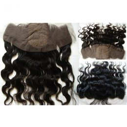 Virgin Indian Body Wave Silk Base Lace Frontal Closure Bleached Knots 7A Grade Indian Human Hair Silk Top Full Lace Frontal Pieces 13x4