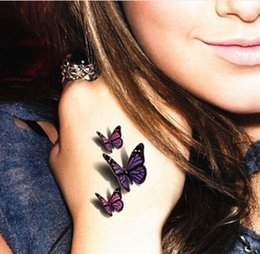 Wholesale Amazing D Butterfly Temporary Body Art Fashion Flash Tattoo Sticker cm Waterproof Summer Henna Tatoo Adult Sex Products