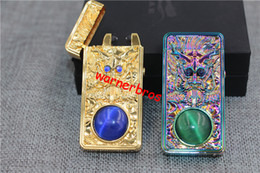 Wholesale 1pcs USA China Ancient Culture Dragon Pattern Embossed Arc Cigarette Lighter Windproof USB Charging Pulse Arc Metal lighters