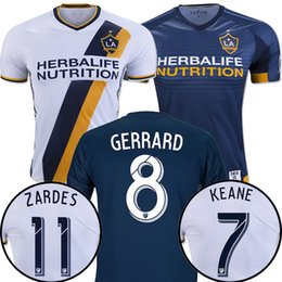 Wholesale Whosales Discount LA Galaxyss Soccer Jersey La GalaxyS Jerseys Custom Giovani GERRARD Soccer uniform Los angeles Top thai jersey