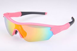 Brand Girls Women Path Cycling Bicycle Bike Outdoor Sports Sun Glasses Eyewear Goggle Sunglasses 5 color lens Pink color