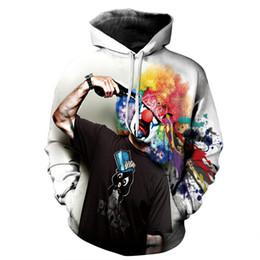 Free Shipping US Size M-5XL High Quality New Fall Fashion Casual Hoodie 3D Clown Color Digital Printing Slim Hooded Sweatshirt Sweater