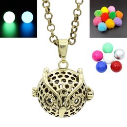 Antique Bronze Owl Animal Charms Locket Cage Box Pendant for Aromatherapy Perfume Fragrance Essential Oil Diffuser Necklace