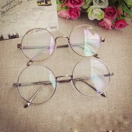 Wholesale 2016New Retro Oval Antique Glasses Frames Male Full Frame Metal Gray Clear Lens Frames For Women Optical Glasses L