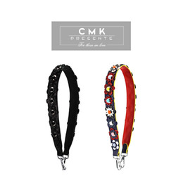 Wholesale CMK KST001 Women Real Leather Handbag Strap Replacement You with Solid Flowers Shoulder Stripe Replacement Silver Hardware Flowerland