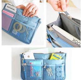 300pcs Women Lady Travel makeup bag Insert Handbag Purse Large liner Tote Organizer Dual Storage Amazing make up bags D633