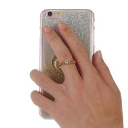 Wholesale Finger Ring TPU Bling Glitter Shimmering Mobile Phone Cover For iPhone S C SE SE Case Stand Soft CellPhone Shell