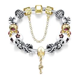 2017 lien pour perles Brand Magnet Fermoir Charm Flower Perle Punk Bracelet Bracelet mixte Fashion Girl Bijoux de luxe 925 Silver Link Bracelet Chaîne Livraison gratuite lien pour perles ventes